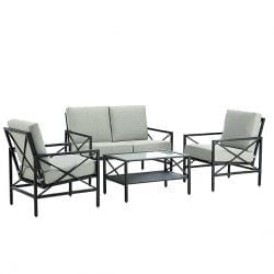 Essential Garden Anniston 4-Piece Patio Seating Set