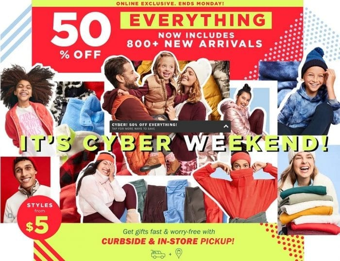 Old Navy 2020 Cyber Monday Ad
