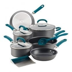 Rachael Ray Create Delicious 11pc Hard-Anodized Aluminum Nonstick Cookware Set