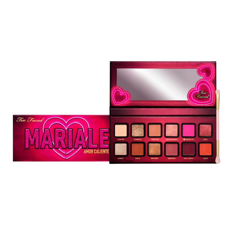Too Faced Mariale Palette with Dual-Ended Eyeshadow Brush