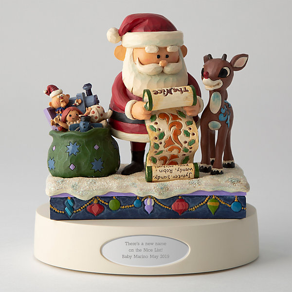 Jim Shore Rudolph and Santa with List Figurine