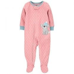 Baby Girl Carter's Koala Fleece Footed Pajamas