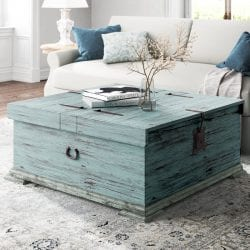 Kelly Clarkson Home Parthenon Solid Wood Cocktail Table with Storage