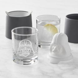 Star Wars Darth Vader Etched Glasses & Ice Molds Set