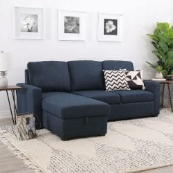 Abbyson Living Lincoln Fabric Reversible Storage Sectional Sofa