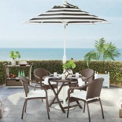 Cafe 5pc Curved Back Chairs Patio Table Set